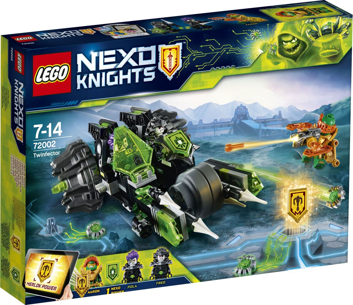 LEGO Nexo Knights Конструктор Боевая машина близнецов 72002 lego lego nexo knights 70334 предводитель монстров – абсолютная сила