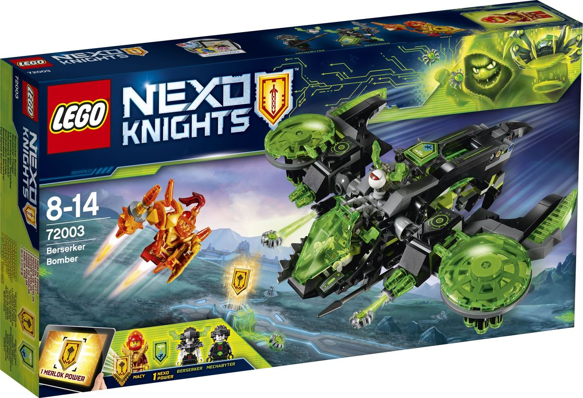 LEGO NEXO KNIGHTS Конструктор Неистовый бомбардировщик 72003 тетради lego тетрадь 100 листов линейка lego nexo knights рыцари нексо размер 19х24 7 см