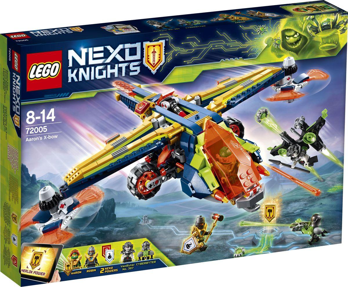 LEGO Nexo Knights Конструктор Аэро-арбалет Аарона 72005 конструктор lego nexo knights вездеход аарона 4x4 70355
