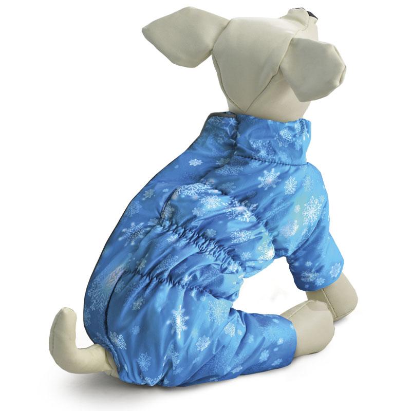 Комбинезон для собак Gamma Нимбус, зимний, для мальчика. Размер L12212090Теплый зимний комбинезон на синтепоне с оригинальным принтом изготовлен из мягкого флиса с комбинацией современной курточной ткани Дюспо 240 PU, которая эффективно отталкивает влагу, не пропускает ветер, не боится сильных морозов и ярких солнечных лучей. Комбинезон выполнен с учетом анатомических особенностей тела собаки, имеет специальные вставки из резинок, что позволяет изделию плотно сидеть на собаке, а также декорирован функциональным светоотражающим элементом.Обхват груди: 46 см. Длина спины: 36 см. Одежда для собак: нужна ли она и как её выбрать. Статья OZON Гид
