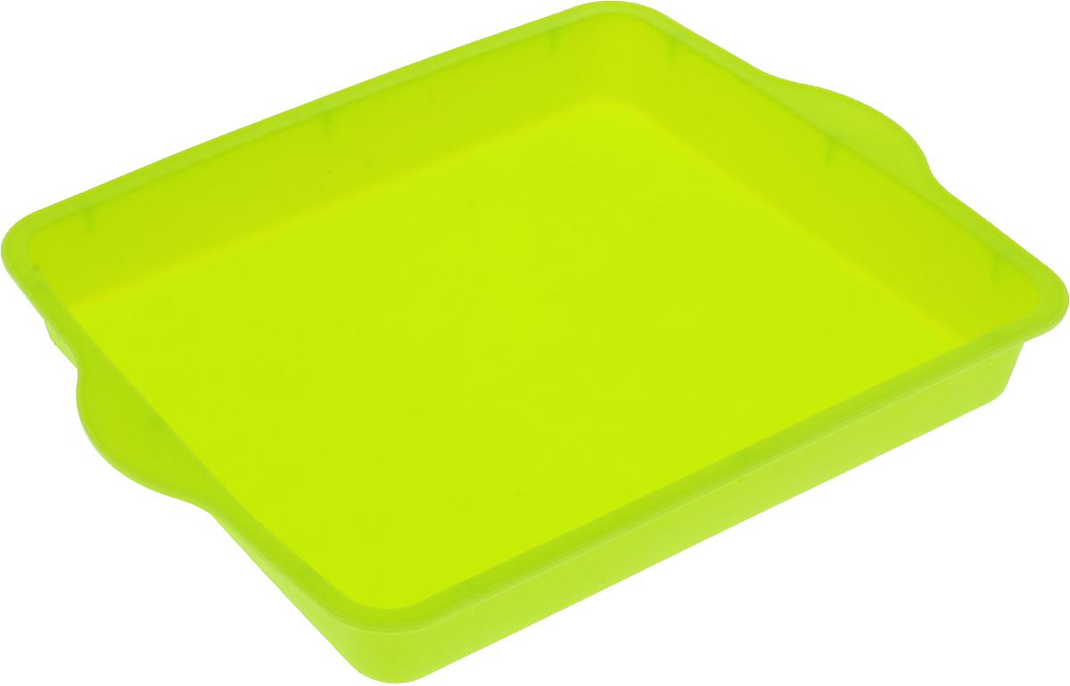 Форма для выпечки Доляна Прямоугольная, цвет: салатовый, 30 х 22 см811952_салатовыйФорма для выпечки из силикона - современное решение для практичных и радушных хозяек. Оригинальныйпредмет позволяет готовить в духовке любимые блюда из мяса, рыбы, птицы и овощей, а также вкуснейшуювыпечку. Почему это изделие должно быть на кухне?- блюдо сохраняет нужную форму и легко отделяется от стенок после приготовления;- высокая термостойкость (от -40°C до 230°C) позволяет применять форму в духовых шкафах и морозильных камерах; - небольшая масса делает эксплуатацию предмета простой даже для хрупкой женщины;- силикон пригоден для посудомоечных машин;- высокопрочный материал делает форму долговечным инструментом;- при хранении предмет занимает мало места.Советы по использованию формы Перед первым применением промойте предмет теплой водой.В процессе приготовления используйте кухонный инструмент из дерева, пластика или силикона.Перед извлечением блюда из силиконовой формы дайте ему немного остыть, осторожно отогните края предмета.