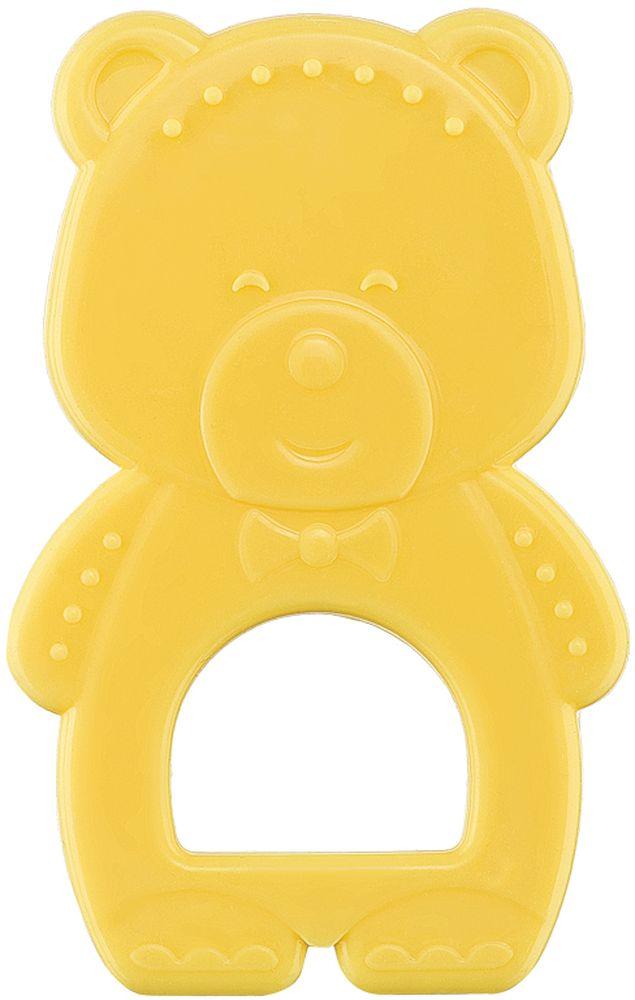 Happy Baby Прорезыватель Мишка от 4 месяцев цвет желтый