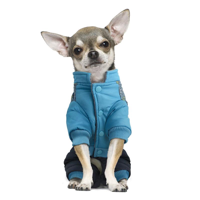 Комбинезон для собак Triol Mickey-2, зимний, для мальчика, цвет: голубой, серый. Размер L12211237Комбинезон зимний Mickey-2 отлично подойдет для вашей собачки. Теплый и непромокаемый материал оставит шерсть вашего питомца чистой и сухой. Костюм имеет стильный дизайн, а универсальный фасон не стесняет движений питомца во время прогулки. На рукавах предусмотрены удобные резинки, фиксирующие изделие на лапах животного. Внутренняя подкладка - мягкая и приятная на ощупь. Изделие надежно фиксируется при помощи 4 заклепок на животе. Длина по спинке: 35 см.Обхват груди: 42-48 см.Одежда для собак: нужна ли она и как её выбрать. Статья OZON Гид