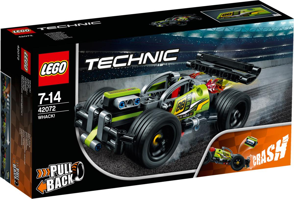 LEGO Technic Конструктор Гоночный автомобиль цвет зеленый 42072 lego technic конструктор гоночный автомобиль для побега