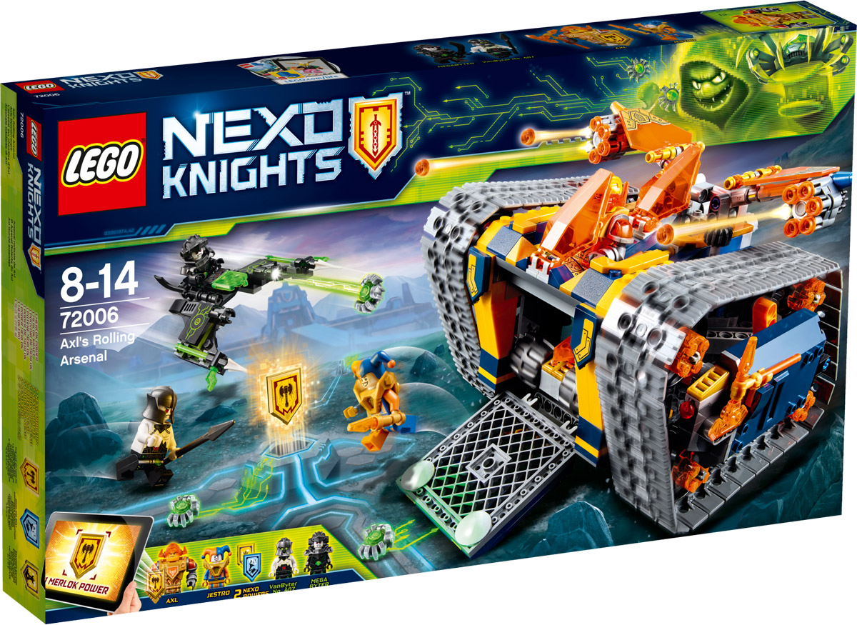 LEGO Nexo Knights Конструктор Мобильный арсенал Акселя 72006 тетради lego тетрадь 100 листов линейка lego nexo knights рыцари нексо размер 19х24 7 см