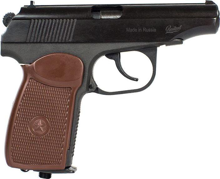 Пистолет пневматический Калашников, газобаллонный, c обновленной рукояткой. МР-654К-20 пневматический пистолет glock в минске