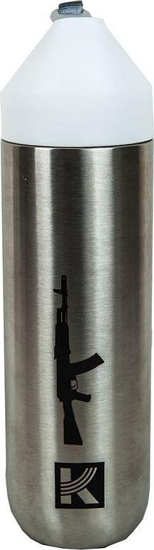 Фляжка-бутылка для воды Калашников, 500 млОТК000195Основной используемый материал при изготовлении фляжки – нержавеющая сталь марки 304. Она не впитывает запахи и сохраняет первоначальный вкус воды. Продуманный тканевый ремешок сочетает в себе сразу две функции: с ним вы с удобством можете брать бутылку с собой, куда бы вы ни пошли, а также он позволяет открыть бутылку и получить доступ к трубочке за считанные секунды. Фирменный логотип и силуэт автомата Калашников, подчеркнет вашу индивидуальность и выделит вас где бы вы не использовали фляжку для воды.