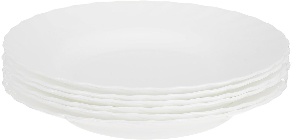 Тарелки суповые Luminarc Trianon, диаметр 22,5 см, 6 шт61260Набор тарелок суповых белыхиз серии Luminarc Trianon. Тарелки выполнены из ударопрочного стекла, устойчивого к резким перепадам температуры. Могут использоваться в посудомоечной машине и СВЧ. Тарелки предназначены для подачи первых блюд и вмещают 450 мл жидкости (до самого края). Комфортно в тарелку помещается 3 половника супа, при этом она не будет заполнена до самого края. Идеально подходят для повседневной сервировки стола.