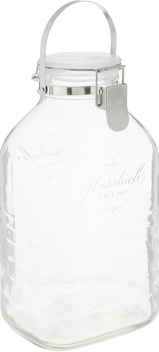 Банка для сыпучих продуктов Glasslock, для консервирования, цвет: прозрачный, 400 млIP-636Банка Glasslock, выполненная из стекла, отлично подойдет для хранения солений, ягод, варенья. Герметичная крышка закрывается при помощи металлической клипсы. Можно мыть в посудомоечной машине. Подходит для хранения в холодильнике. Удобная ручка для переноски.Изделие устойчиво к внешним воздействиям, не пропускает влагу, пыль и запахи. Такая банка стильно дополнит интерьер и поможет дольше хранить продукты. Диаметр банки (по верхнему краю): 8 см.Высота банки (с учетом крышки): 30 см.