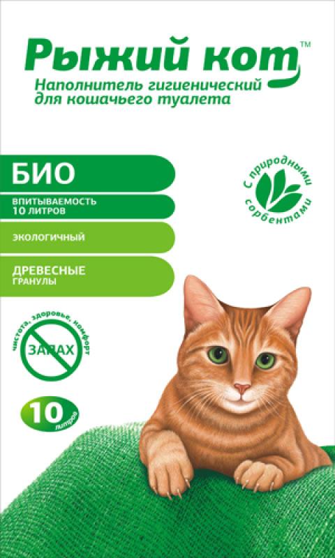 Наполнитель для кошачьего туалета Рыжий кот