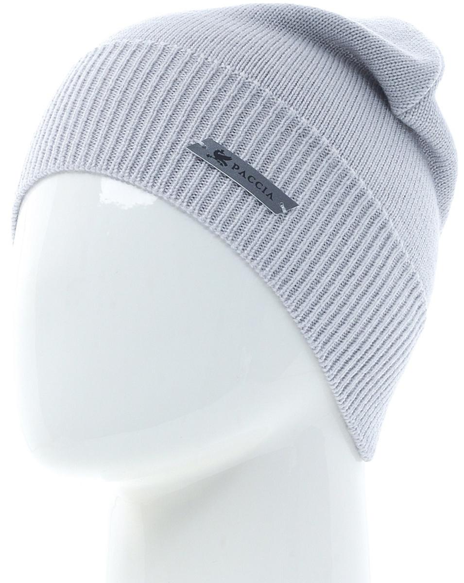 Шапка женская Paccia, цвет: серый. NR-21703-7. Размер 55/58NR-21703-7Женская шапка-бини Paccia выполнена из шерсти с добавлением акрила. Эта шапка не только согреет в холодную погоду, но и стильно дополнит ваш образ.