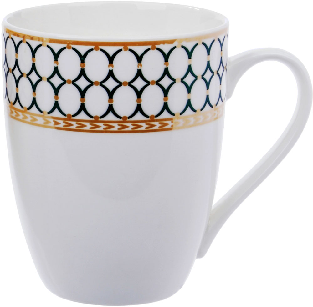 Кружка Ningbo Royal, цвет: белый, 360 мл. RUCH025RUCH025Фарфоровая кружка Ningbo Royal удивит вас приятным сочетанием отменного качества фарфора и классическим декором. Кружка найдет свое применение как в городской квартире, так и в загородном доме. Классический декор будет одинаково хорошо смотреться в любое время года. Кружку Ningbo Royal можно использовать в СВЧ и мыть в посудомоечной машине.