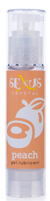 Sexus Lubricant Гель-лубрикант на водной основе с ароматом персика Crystal Peach, 60 мл yuting человек lubricant весело водорастворимая смазка наносит две бутылки ощущение прохлады 45g 2 бутылки