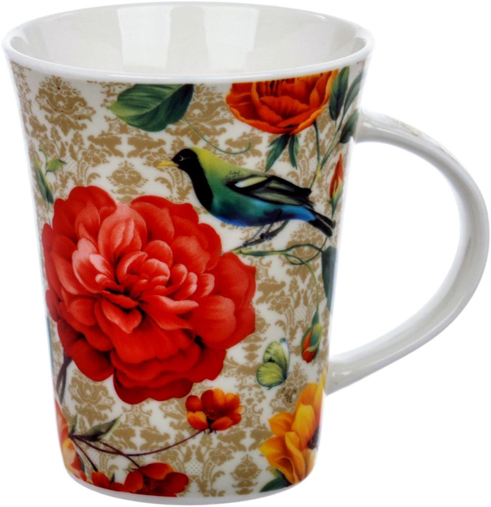 Кружка Quanhu Райский цветок, цвет: белый, красный, бежевый, 380 млLQB18-F001Кружка Quanhu Райский цветок выполнена из белого фарфора. Фарфоровая кружка Quanhu Английский стиль восхищает своей самодостаточностью и полнотой во всем: насыщенностью и четкостью рисунка, молочной белизной и гладкостью фарфора. Объем: 380 мл. Кружку можно использовать в СВЧ и мыть в посудомоечной машине.
