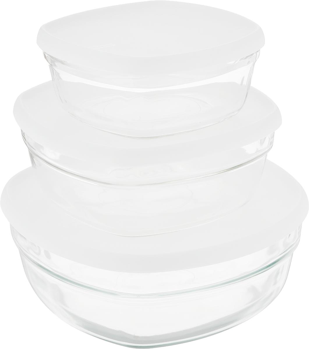 Набор контейнеров Glasslock, цвет: прозрачный, 3 шт. GL-1252 ороситель truper с 3 соплами с пластиковой основой