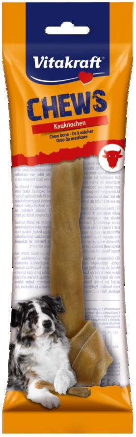 Лакомство для собак Vitakraft Chews, жевательная кость, из сыромятной кожи, длина 25 см