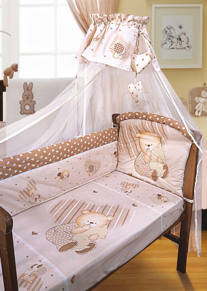 Золотой Гусь Комплект белья для новорожденных Мишутка 7 предметов цвет бежевый комплект в кроватку золотой гусь мишка царь бежевый