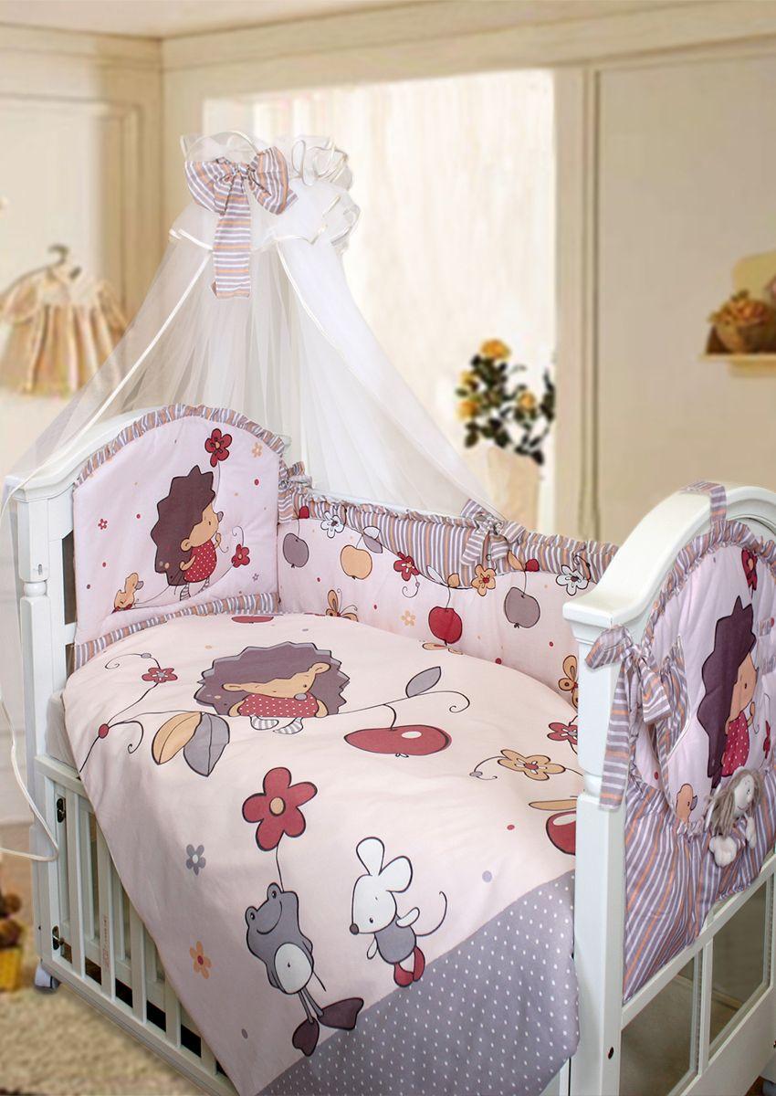 Золотой Гусь Комплект белья в кроватку Ежик Топа-Топ цвет бежевый 8 предметов 60 x 120 см