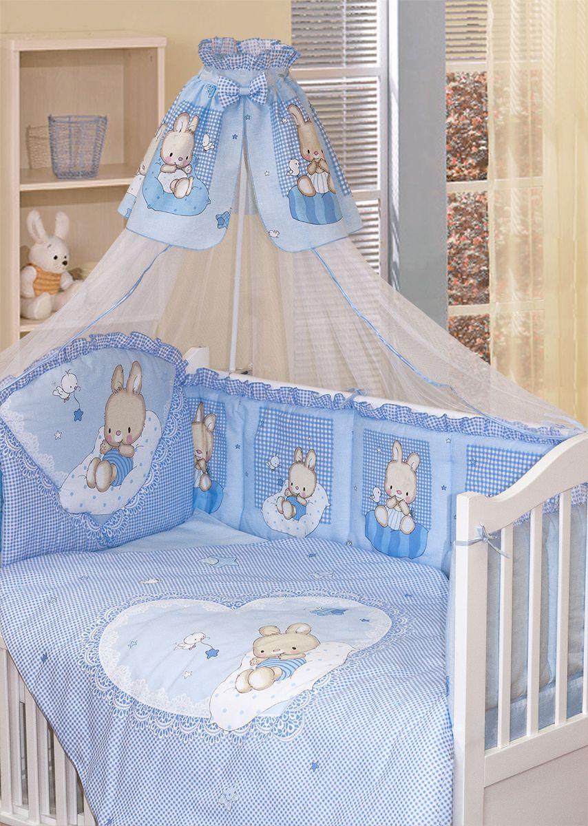 Золотой Гусь Комплект белья в кроватку Степашка 7 предметов цвет голубой 60 см x 120 см