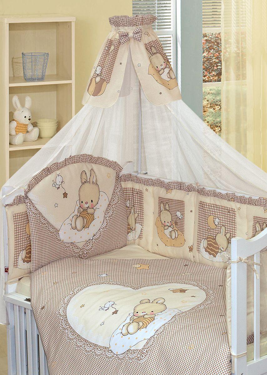 Золотой Гусь Комплект белья в кроватку Степашка цвет бежевый 7 предметов 60 x 120 см