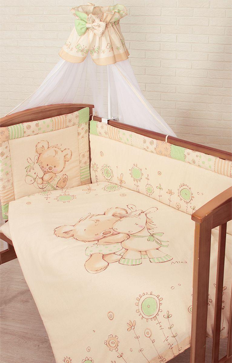 Золотой Гусь Комплект белья в кроватку Mika цвет зеленый 7 предметов 60 x 120 см