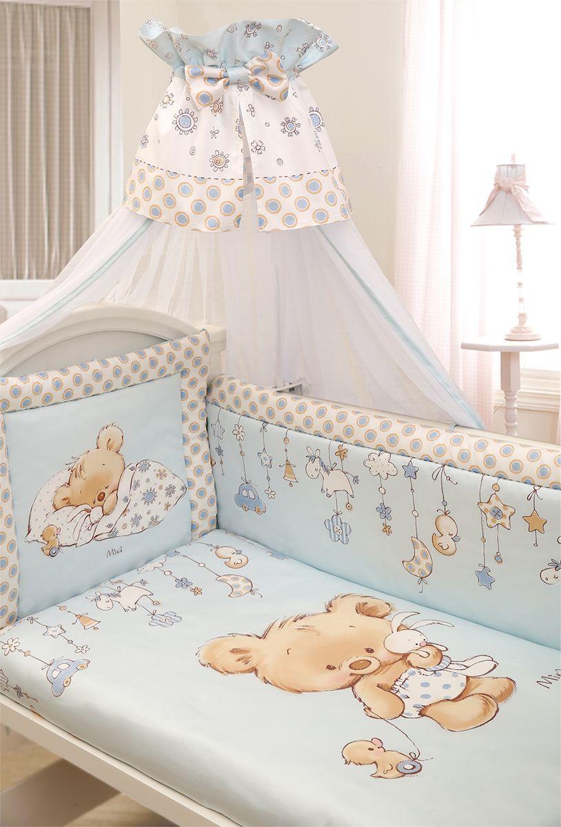 Золотой Гусь Комплект белья в кроватку Mika цвет голубой 7 предметов 60 х 120 х см