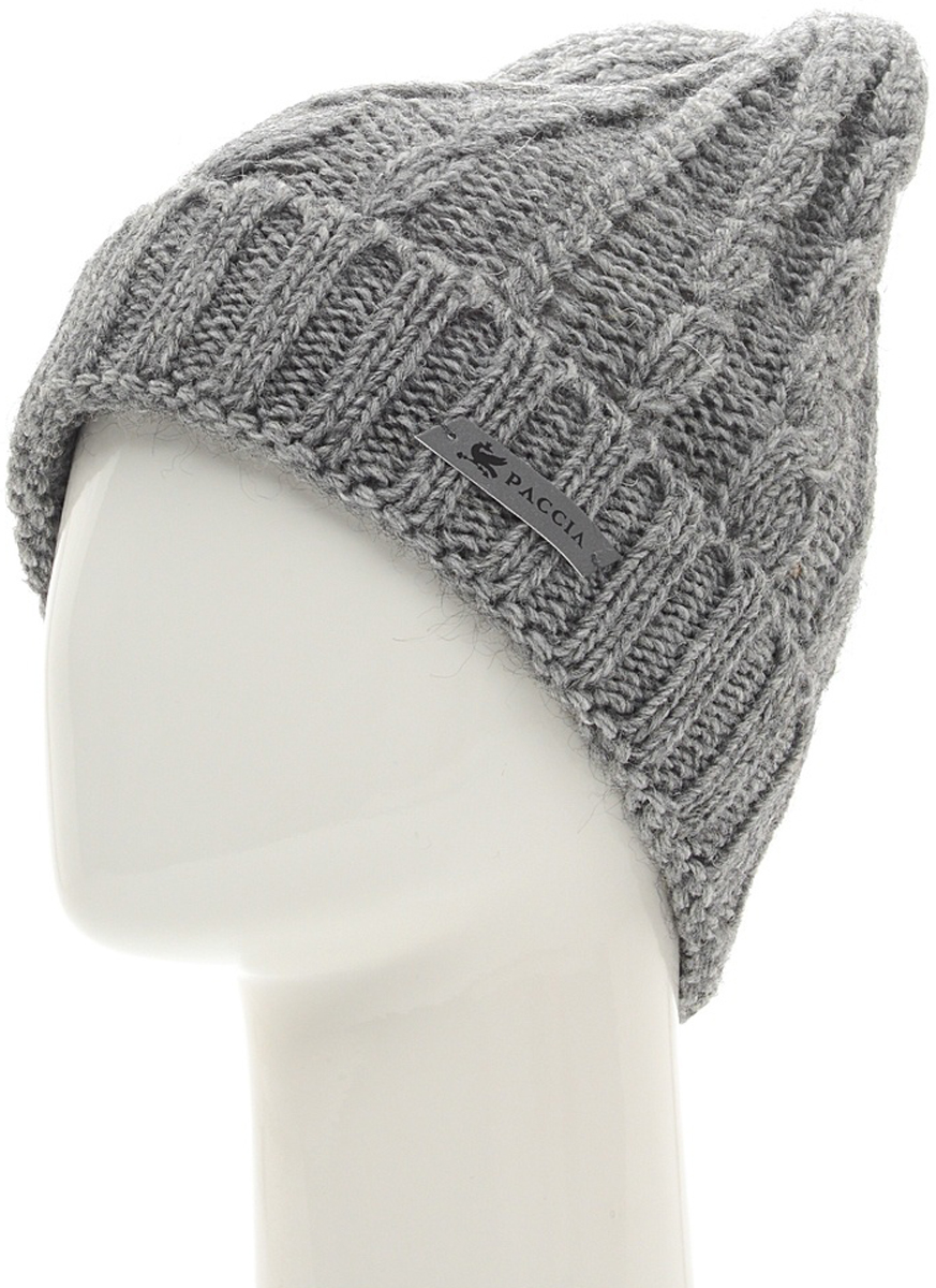 Шапка женская Paccia, цвет: серый. NR-21710-1. Размер 55/58NR-21710-1Вязаная женская шапка-бини Paccia выполнена из акрила с добавлением шерсти. Эта шапка не только согреет в холодную погоду, но и стильно дополнит ваш образ.