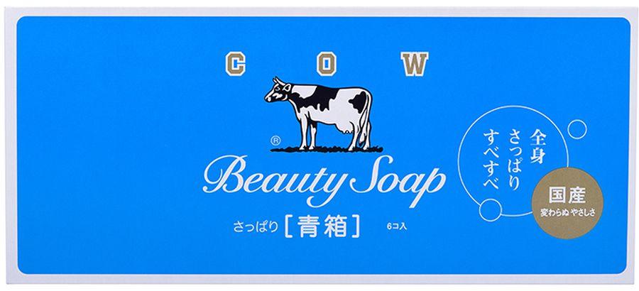 Cow Молочное туалетное мыло с ароматом свежести, 6 х 85 г11706gsМыло с молочными жирами из натурального цельного коровьего молока и свежим ароматом голубого жасмина. Густая пена мягко очищает, молочные жиры увлажняют и смягчают кожу, повышая ее защитные свойства. Подходит для ежедневного ухода.