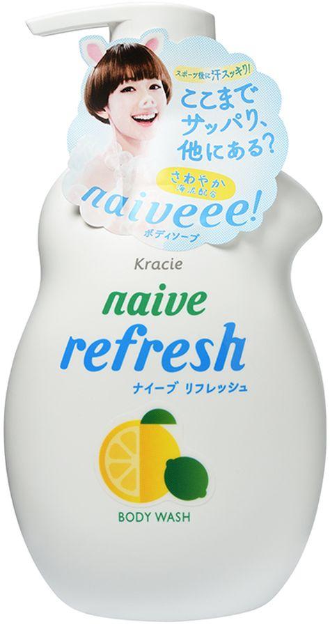 Kracie Мыло жидкое для тела Naive с ароматом цитрусовых, 530 мл16953krЖидкое мыло предназначено для ежедневного ухода, подходит для использования даже для нежной детской кожи. Не содержит моющие компоненты на основе нефти, красители, минеральные масла, силиконы, парабены. Органический микс из компонентов 100 % растительного происхождения мягко очищает (орех мыльного дерева), увлажняет (растительный глицерин) и питает (масла оливы и жожоба) кожу. Морской ил издавна считается полезным средством для ухода за кожей. Он прекрасно очищает кожу, удаляет токсины и излишки кожного жира, избавляет от следов стресса и усталости, ликвидирует воспалительные процессы. Освежающий аромат грейпфрута и лайма сохранится на коже после использования