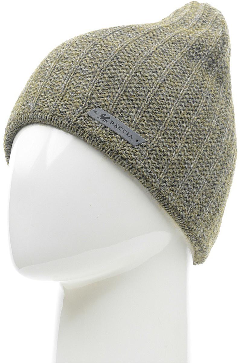 Шапка женская Paccia, цвет: зеленый. NR-21714-5. Размер 55/58NR-21714-5Вязаная женская шапка Paccia выполнена из акрила с добавлением шерсти. Эта шапка не только согреет в прохладную погоду, но и стильно дополнит ваш образ.