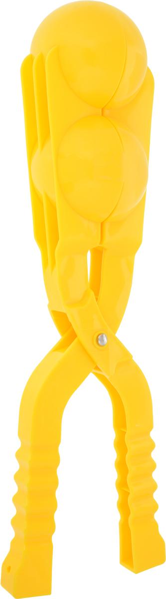 Зимние забавы Снежколеп двойной цвет желтый 36 см