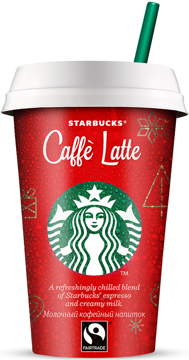 Starbucks Caffe Latte, молочный кофейный напиток, 2,6%, 220 мл maccoffee cappuccino традиционный кофейный напиток 10 шт