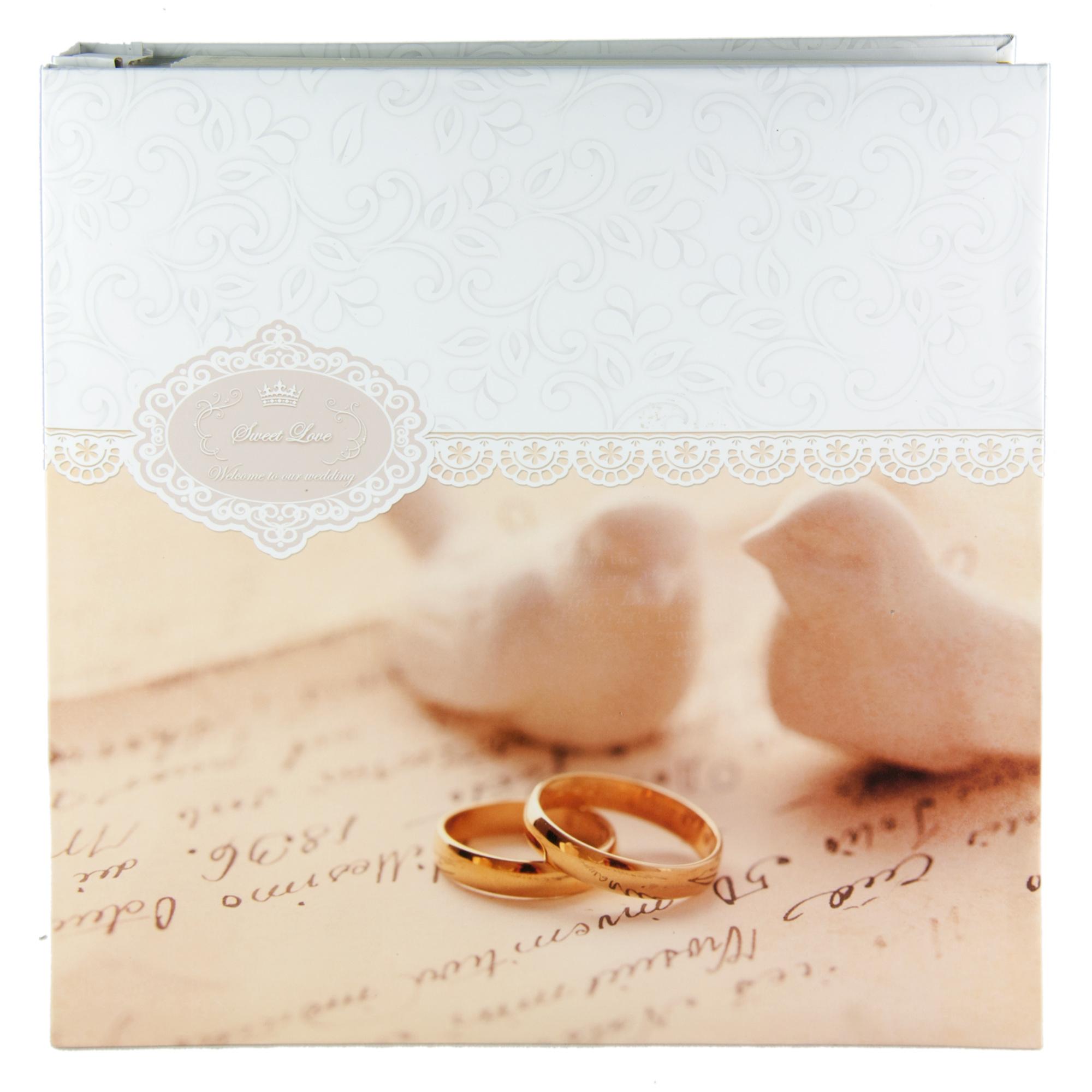 Фотоальбом Platinum Свадебный, магнитный, 30 листов, 20,6 x 28,9 см30 листов 9840-30 Свадебный альбом-4 (3М2425)Фотоальбом на 30 магнитных листов, размер 31,5 x 32,5 см (пластиковые листы).