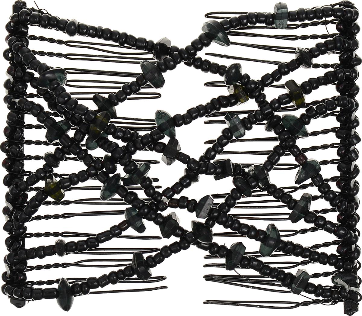 EZ-Combs Заколка Изи-Комбс, одинарная, цвет: черный. ЗИО_осколкиЗИО_черный/осколкиУдобная и практичная EZ-Combs подходит для любого типа волос: тонких, жестких, вьющихся или прямых, и не наносит им никакого вреда. Заколка не мешает движениям головы и не создает дискомфорта, когда вы отдыхаете или управляете автомобилем. Каждый гребень имеет по 20 зубьев для надежной фиксации заколки на волосах! И даже во время бега и интенсивных тренировок в спортзале EZ-Combs не падает; она прочно фиксирует прическу, сохраняя укладку в первозданном виде.Небольшая и легкая заколка для волос EZ-Combs поместится в любой дамской сумочке, позволяя быстро и без особых усилий создавать неповторимые прически там, где вам это удобно. Гребень прекрасно сочетается с любой одеждой: будь это классический или спортивный стиль, завершая гармоничный облик современной леди. И неважно, какой образ жизни вы ведете, если у вас есть EZ-Combs, вы всегда будете выглядеть потрясающе.