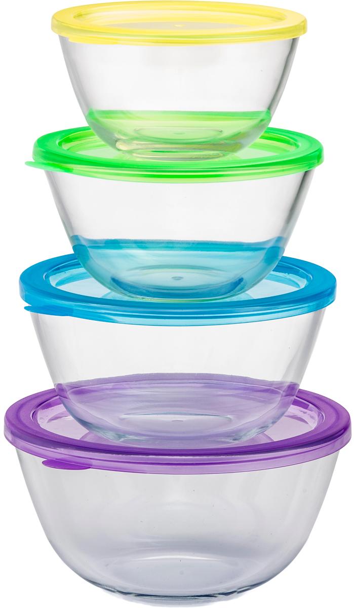 Набор форм для запекания Eley Set, цвет: прозрачный, 4 шт kitchenaid kblr04nsac набор из 4 керамических кастрюль для запекания cream