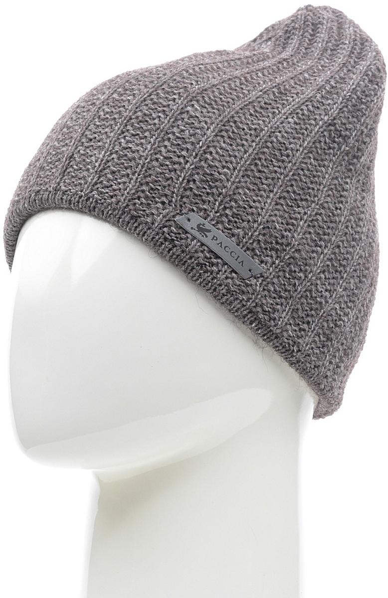 Шапка женская Paccia, цвет: коричневый. NR-21714-4. Размер 55/58NR-21714-4Вязаная женская шапка Paccia выполнена из акрила с добавлением шерсти. Эта шапка не только согреет в прохладную погоду, но и стильно дополнит ваш образ.