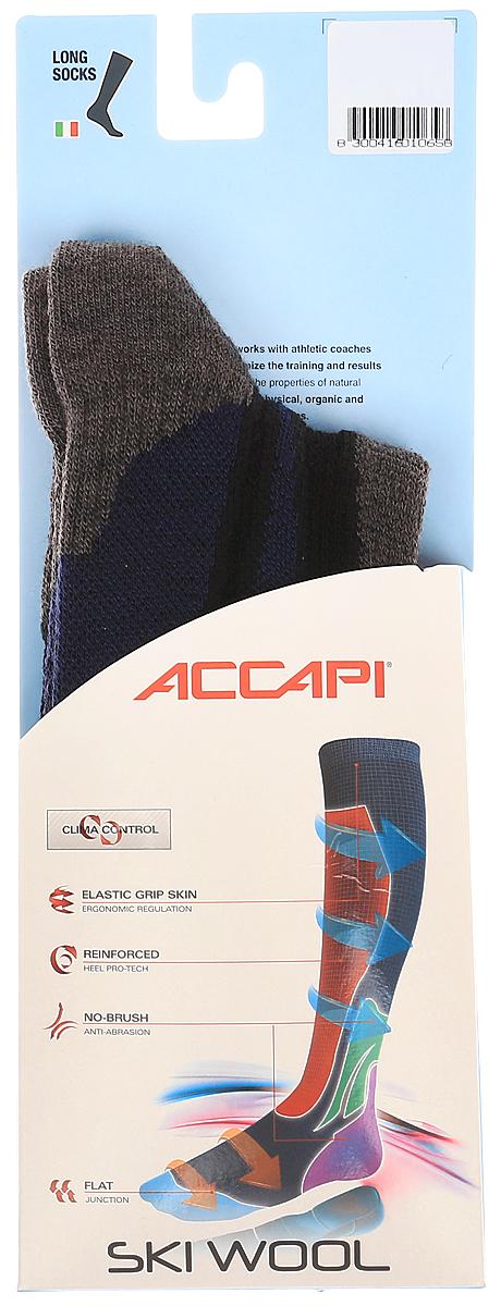 Носки Accapi Ski Wool, цвет: синий, черный, серый. 900_999. Размер 42/44 носки горнолыжные mico ski цвет синий 0255 размер s 35 37