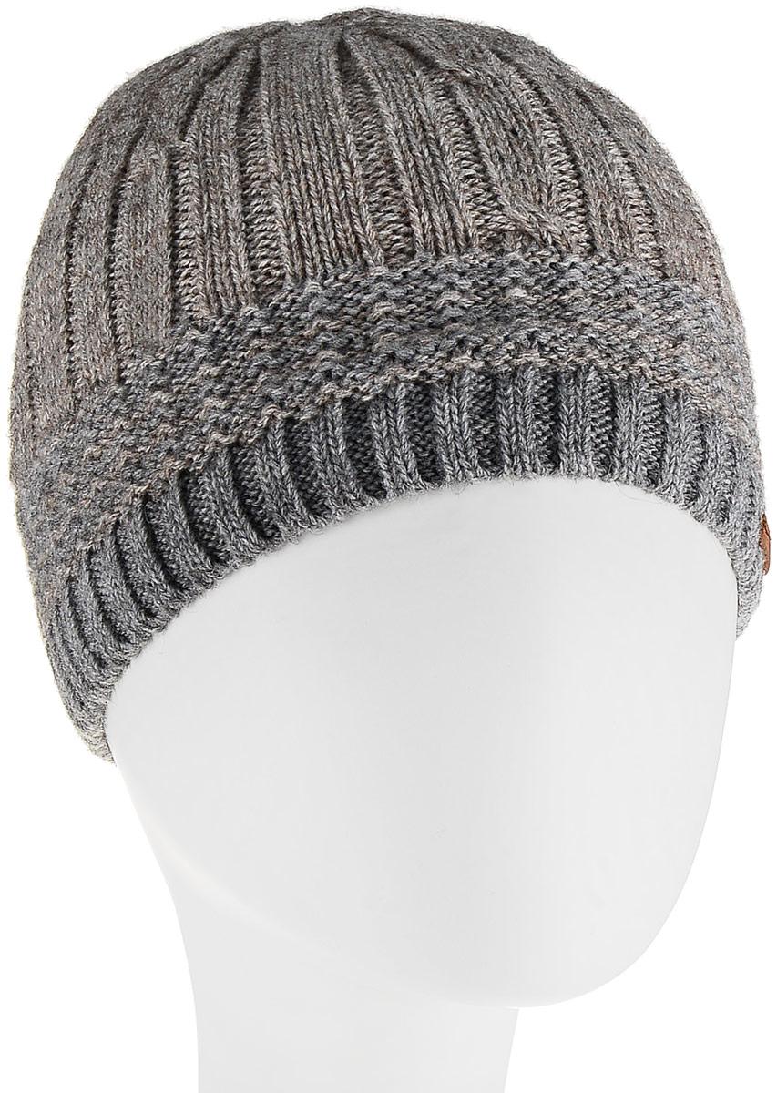 Шапка мужская Marhatter, цвет: серый, бежевый. Размер 57/59. MMH6852/2MMH6852/2Универсальная шапка, отлично подходит под любой стиль одежды. Сдержанный строгий дизайн, деликатная отделка и классические цвета.