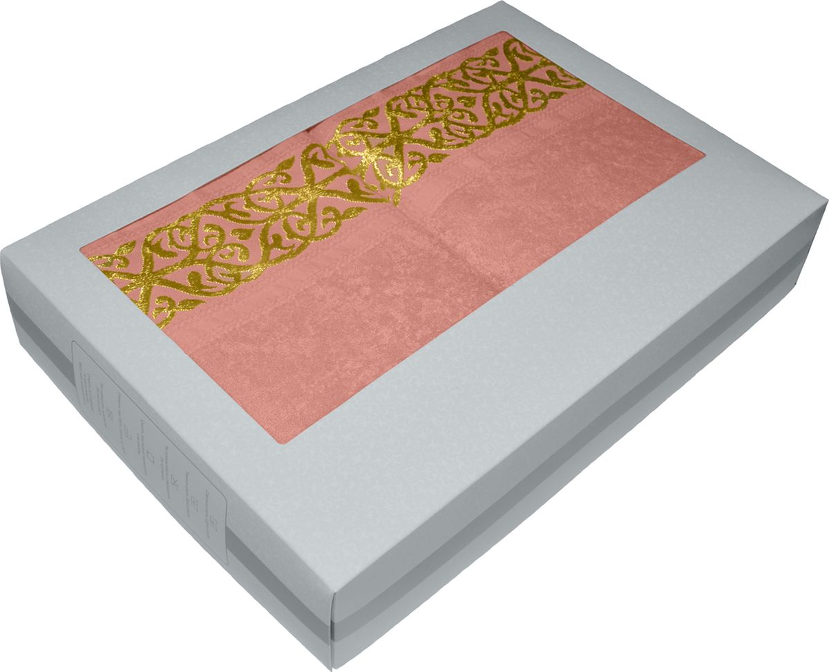 Набор махровых полотенец Tete-a-tete, в подарочной коробке, цвет: персик, 2 штНМП-030к