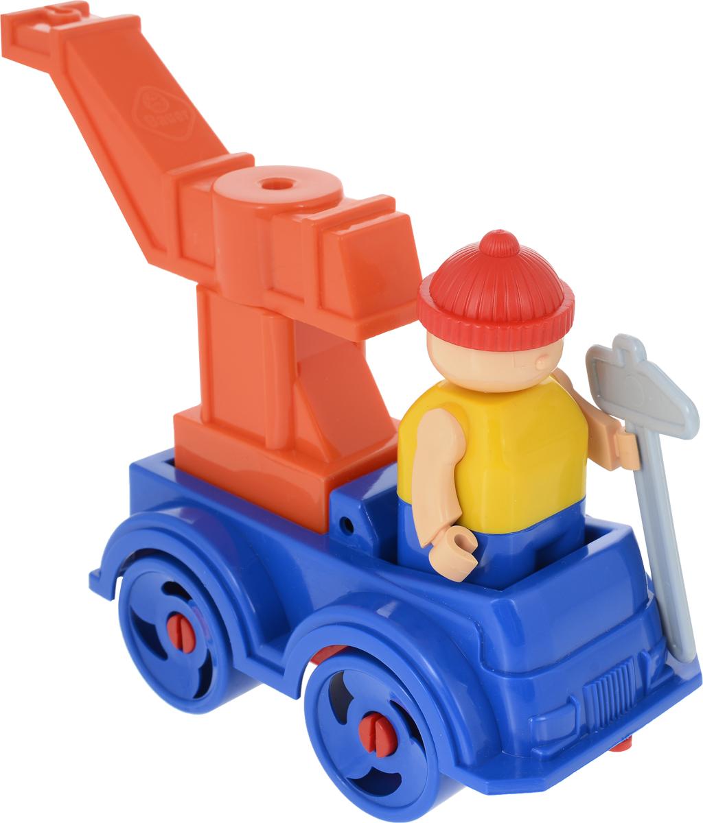 Bauer Конструктор Рабочая техника Машина с краном цвет синий оранжевый