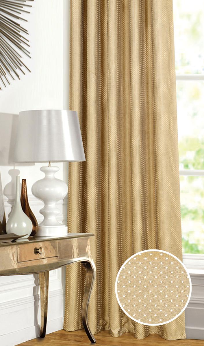 Штора Garden, на ленте, цвет: коричневый, высота 260 см. С 537649 V201С 537649 V201Штора для гостиной, выполнена из жаккарда с рисунком. Приятная текстура и цвет штор привлекут к себе внимание и органично впишутся в интерьер помещения. Штора крепится на карниз при помощи ленты, которая поможет красиво и равномерно задрапировать верх.