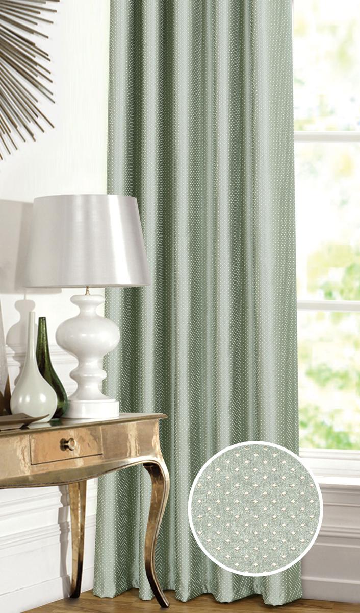 Штора Garden, на ленте, цвет: бирюзовый, высота 260 см. С 537649 V25С 537649 V25Штора для гостиной, выполнена из жаккарда с рисунком. Приятная текстура и цвет штор привлекут к себе внимание и органично впишутся в интерьер помещения. Штора крепится на карниз при помощи ленты, которая поможет красиво и равномерно задрапировать верх.