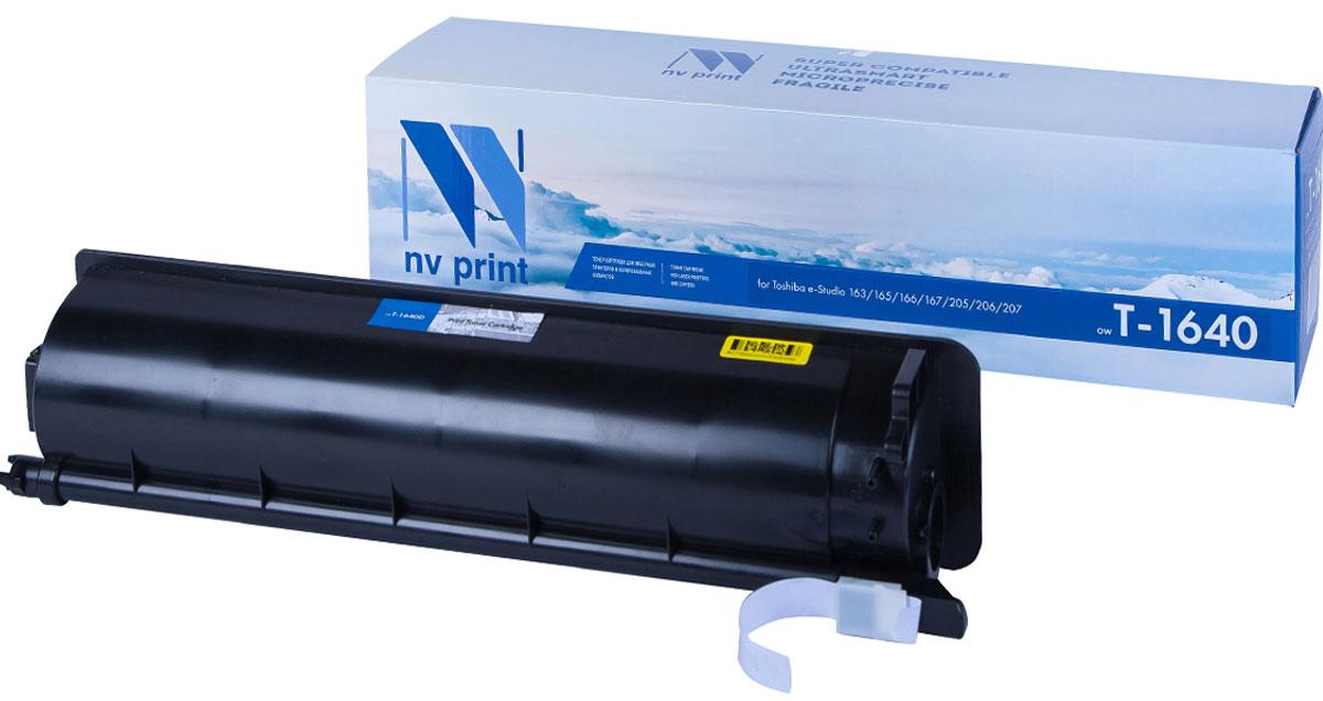 NV Print T-1640E, Black тонер-картридж для Toshiba e-Studio 163/165/166/167//205/206/207 картридж для принтера nv print для hp cf403x magenta