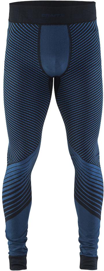 Термобелье брюки мужские Craft Active Intensity, цвет: темно-синий. 1905340/999336. Размер XL (52)1905340/999336Мягкая и эластичная, легкая, но согревающая ткань термобелья сохранит ваше тело в тепле, сухости и комфорте. Прекрасная терморегуляция. Плоские швы следуют за движениями тела. Различные зоны плотности материала с учетом картографии тела. Бесшовный дизайн для оптимальный свободы движений.