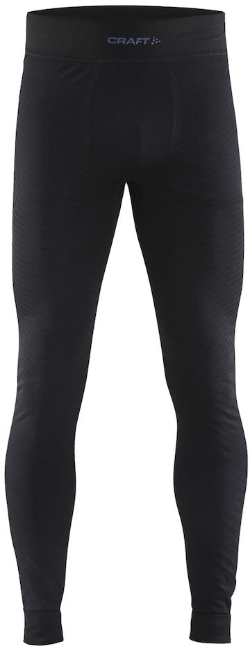 Термобелье брюки мужские Craft Active Intensity, цвет: черный. 1905340/999000. Размер S (46)1905340/999000Мягкая и эластичная, легкая, но согревающая ткань термобелья сохранит ваше тело в тепле, сухости и комфорте. Прекрасная терморегуляция. Плоские швы следуют за движениями тела. Различные зоны плотности материала с учетом картографии тела. Бесшовный дизайн для оптимальный свободы движений.