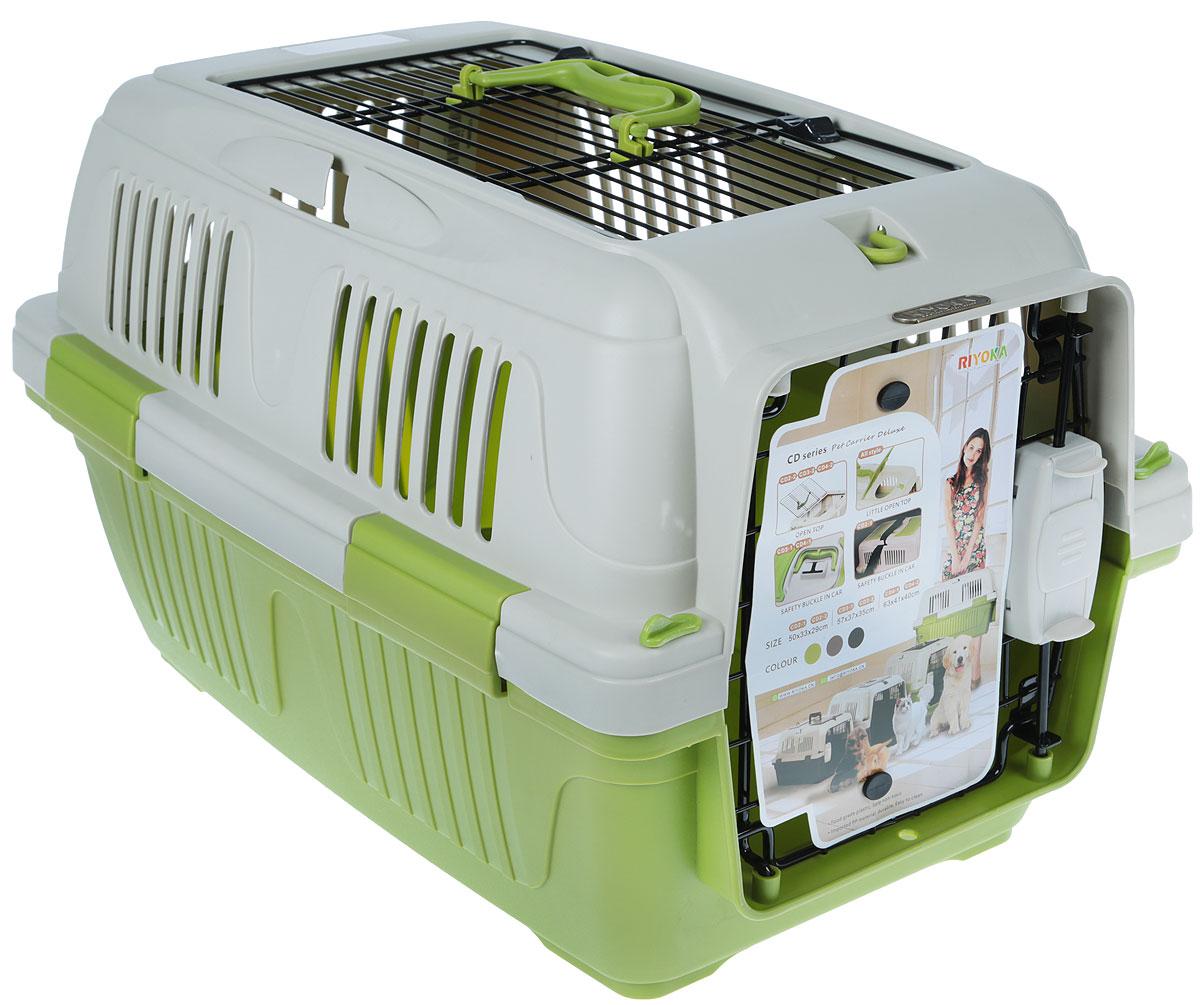 Переноска для животных, цвет: оливковый, бежевый, 57 x 37 x 35 см. CD#3-2 Olive Green
