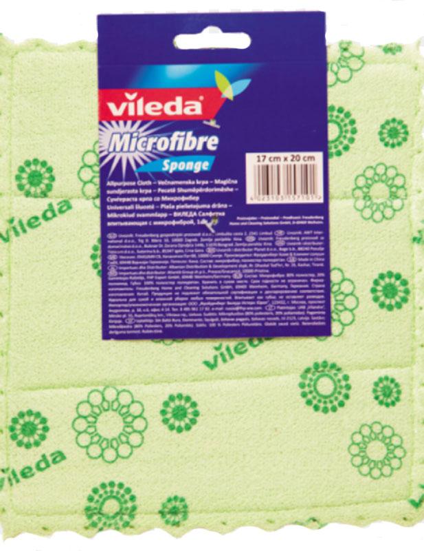 Салфетка универсальная Vileda, цвет: зеленый, 17 х 20 см146510_зелёныйУниверсальная салфетка Vileda предназначена для сухой и влажной уборки. В сухом виде - для удаления пыли, во влажном - для удаления загрязнений и полировки. Она устраняет жир, грязь без следа и разводов. Изделие используется без чистящих средств. Размер: 19 х 17 см.
