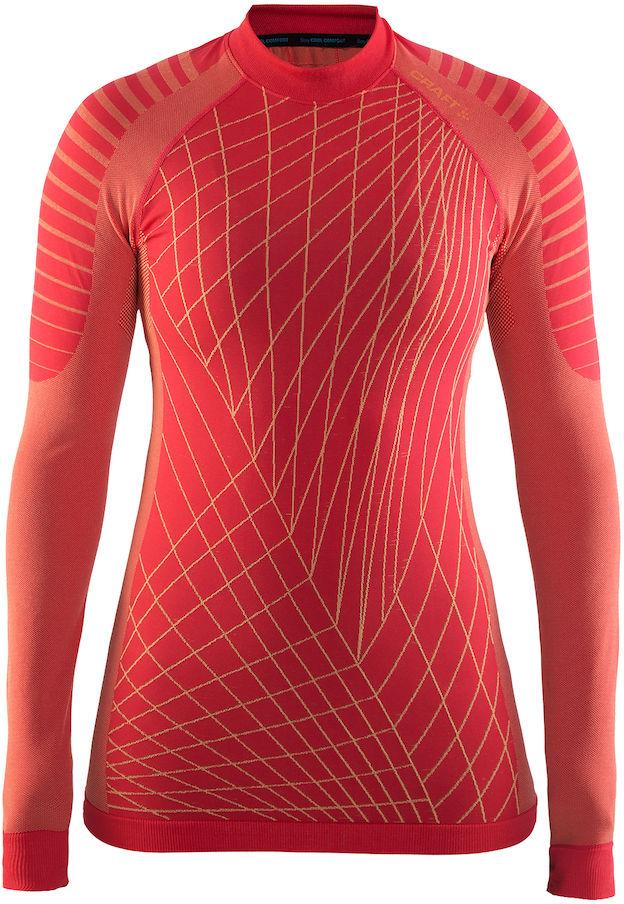 Термобелье кофта женская Craft Active Intensity, цвет: красный. 1905333/452563. Размер XL (50)1905333/452563Мягкая и эластичная, легкая, но согревающая ткань термобелья сохранит ваше тело в тепле, сухости и комфорте. Прекрасная терморегуляция. Плоские швы следуют за движениями тела. Различные зоны плотности материала с учетом картографии тела. Бесшовный дизайн для оптимальный свободы движений.