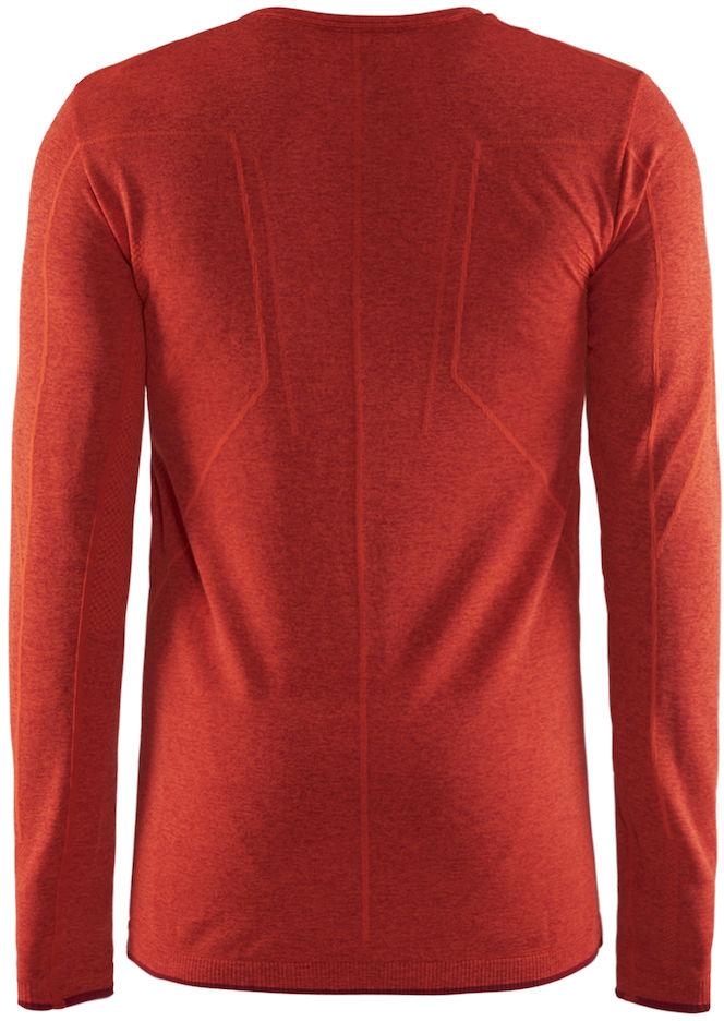 Термобелье кофта мужская Craft Active Comfort, цвет:  красный меланж.  1903716/В566.  Размер XXL (54)