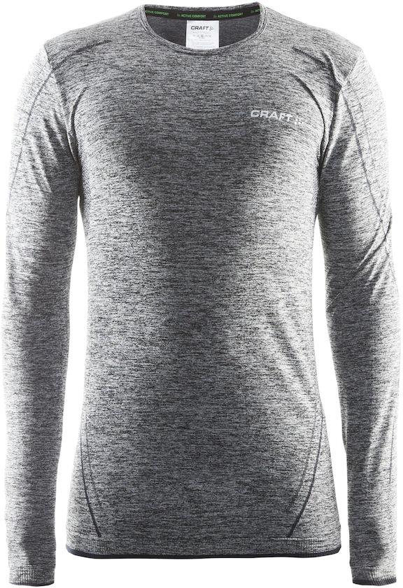 Термобелье кофта мужская Craft Active Comfort, цвет: серый меланж. 1903716/В999. Размер M (48)1903716/В999Мягкая и эластичная, легкая, но согревающая ткань термобелья сохранит ваше тело в тепле, сухости и комфорте. Прекрасная терморегуляция. Свободный крой. Плоские швы следуют за движениями тела. Различные зоны плотности материала с учетом картографии тела. Бесшовный дизайн для оптимальный свободы движений.